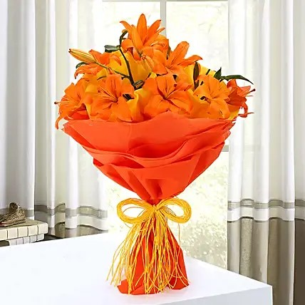 Orange Asiatic Bouquet