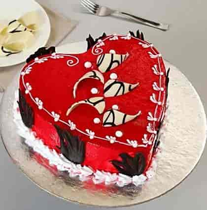 Delicious Red Heart Black Forest