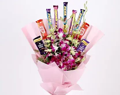 Orchid Choco Bouquet