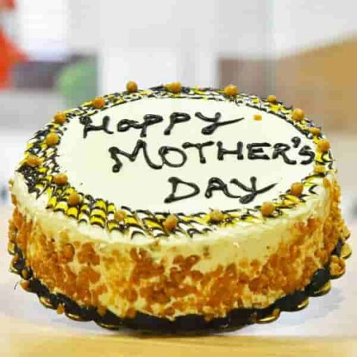 Butterscotch Decorated Cake for Mother's Day