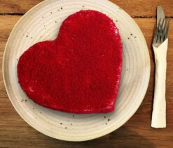 Heart Designed Red Velvet Cake