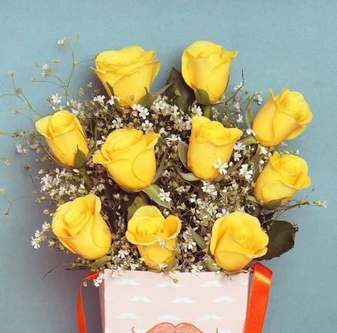 Yellow Roses in a Father's Day Vase1